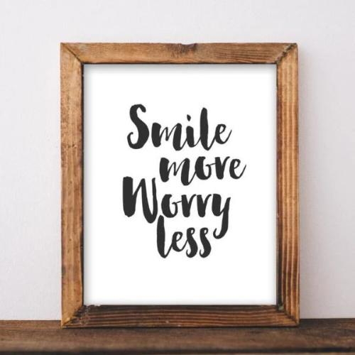 Worry Less - Printable - Printable Digital Download Art by Gracie Lou Printables