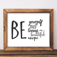 Be Yourself - Printable - Printable Digital Download Art by Gracie Lou Printables