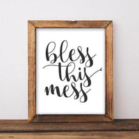 Bless This Mess - Printable - Gracie Lou Printables