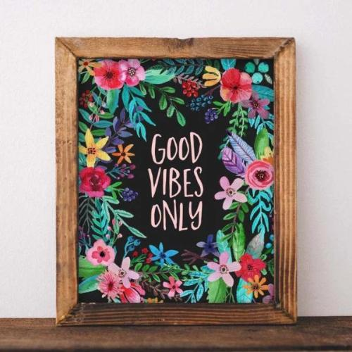 Good Vibes Only - Printable - Gracie Lou Printables