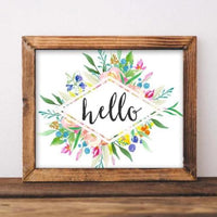 Hello - Printable - Printable Digital Download Art by Gracie Lou Printables