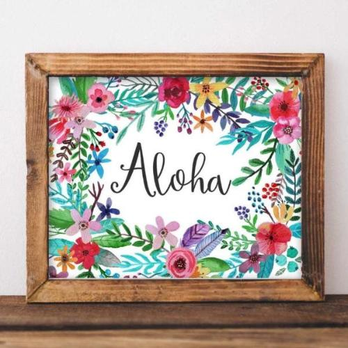 Aloha - Printable - Printable Digital Download Art by Gracie Lou Printables