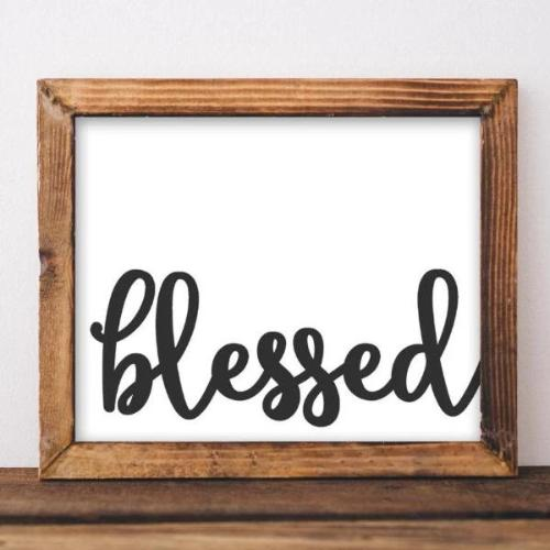Blessed - Printable - Printable Digital Download Art by Gracie Lou Printables
