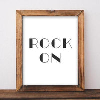 Rock On - Printable - Printable Digital Download Art by Gracie Lou Printables