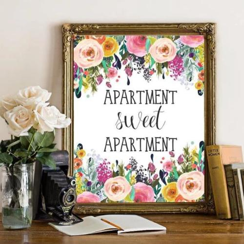 Apartment Sweet Apartment - Printable - Printable Digital Download Art by Gracie Lou Printables