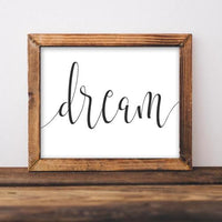 Dream - Printable - Printable Digital Download Art by Gracie Lou Printables