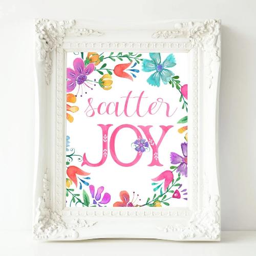 Scatter Joy - Printable - Printable Digital Download Art by Gracie Lou Printables