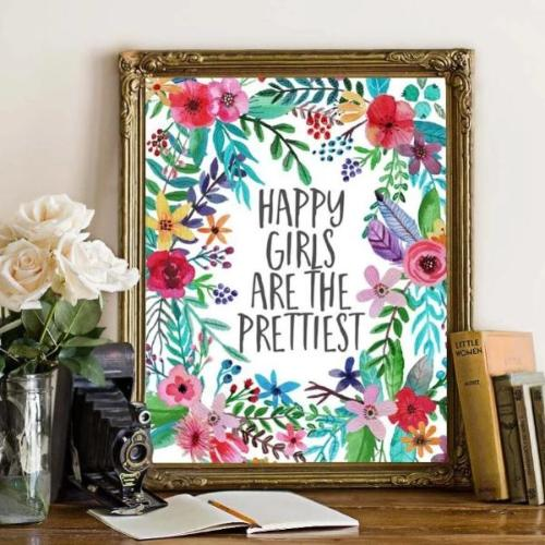 Happy Girls - Printable - Printable Digital Download Art by Gracie Lou Printables
