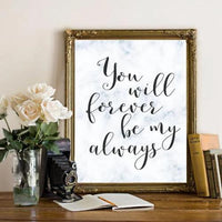 Forever - Printable - Printable Digital Download Art by Gracie Lou Printables