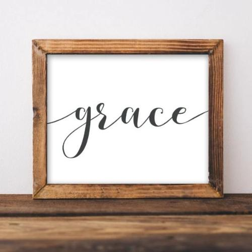 Grace - Printable - Printable Digital Download Art by Gracie Lou Printables