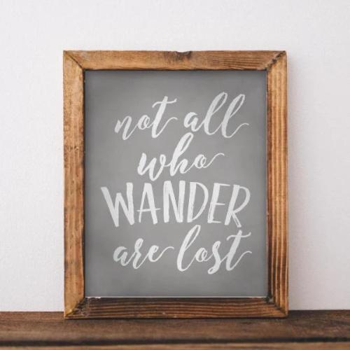 Wander - Printable - Printable Digital Download Art by Gracie Lou Printables