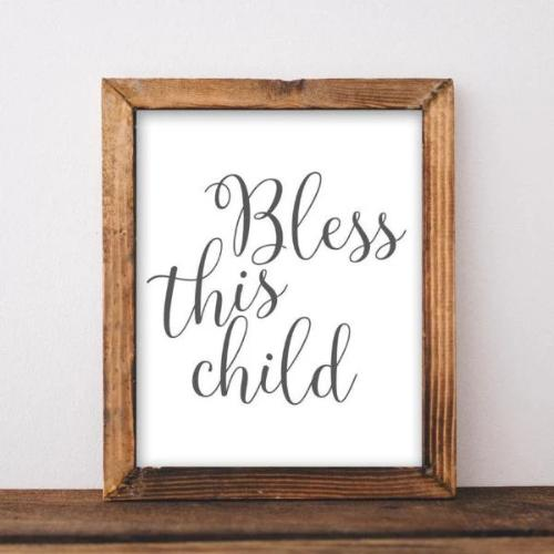 Bless This Child - Printable - Printable Digital Download Art by Gracie Lou Printables