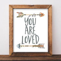 You are loved - Printable - Printable Digital Download Art by Gracie Lou Printables