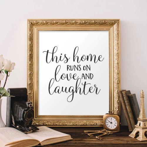 Love and Laughter - Printable - Gracie Lou Printables
