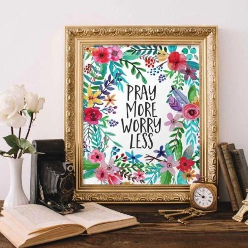 Pray More - Printable - Printable Digital Download Art by Gracie Lou Printables