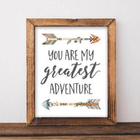 My Greatest Adventure - Printable - Printable Digital Download Art by Gracie Lou Printables