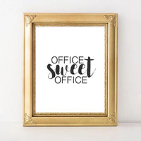 Office Printable Art, Office Sweet Office printable wall art, Home office art, Office decor, office poster, cubicle art, work printable - Gracie Lou Printables