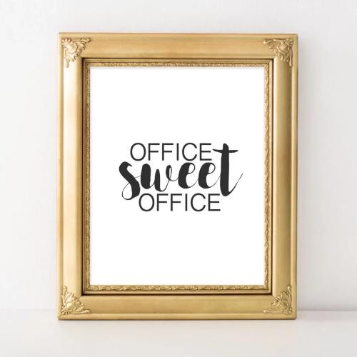 Office Sweet Office - Printable - Printable Digital Download Art by Gracie Lou Printables