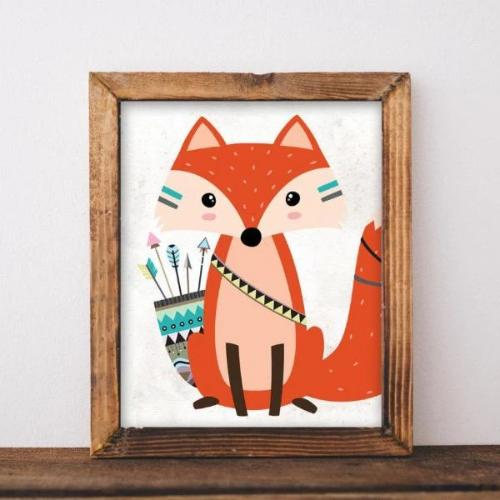 Tribal Fox - Printable - Printable Digital Download Art by Gracie Lou Printables
