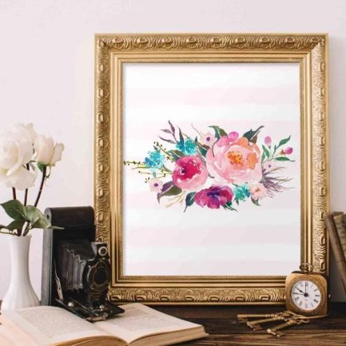 Floral Bouquet - Printable - Printable Digital Download Art by Gracie Lou Printables