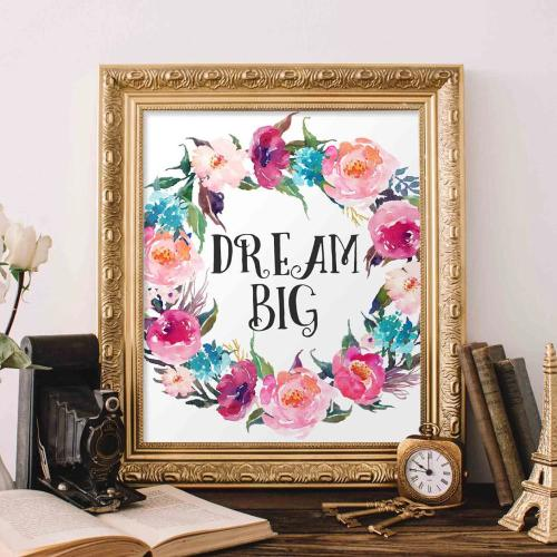 Dream Big - Printable - Printable Digital Download Art by Gracie Lou Printables