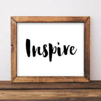 Inspire - Printable - Printable Digital Download Art by Gracie Lou Printables