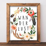 Wanderlust - Printable Wall Decor - Gracie Lou Printables