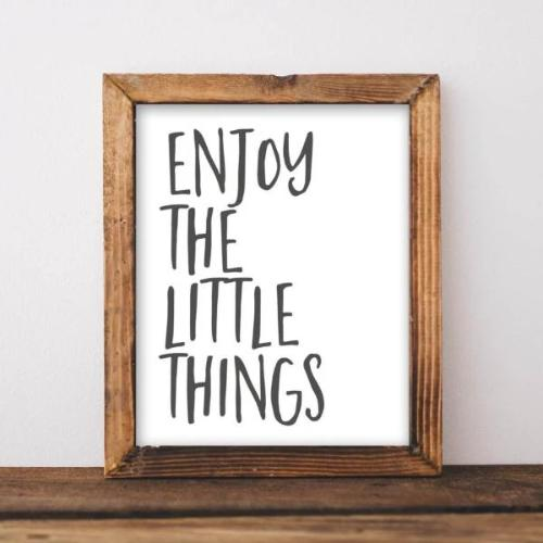 Little Things - Printable - Printable Digital Download Art by Gracie Lou Printables