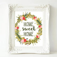 Home Sweet Home - Printable Art - Printable Digital Download Art by Gracie Lou Printables