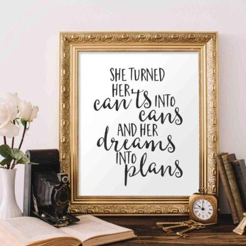 Dreams Into Plans - Printable - Gracie Lou Printables