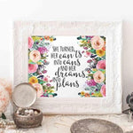 Dreams Into Plans - Printable - Printable Digital Download Art by Gracie Lou Printables