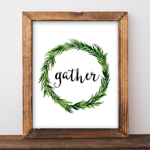 Gather - Printable Wall Art - Gracie Lou Printables