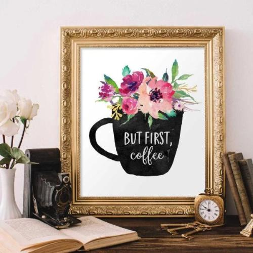 But First Coffee - Printable - Printable Digital Download Art by Gracie Lou Printables