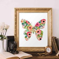 Floral Butterfly - Printable - gracie-lou-printables