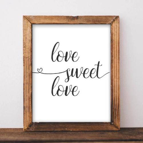 Love Sweet Love - Printable Wall Art - Printable Digital Download Art by Gracie Lou Printables