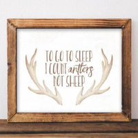 Antlers Not Sheep - Printable - Printable Digital Download Art by Gracie Lou Printables