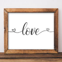 Love - Printable - Printable Digital Download Art by Gracie Lou Printables