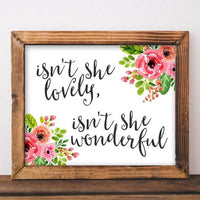 Lovely, Wonderful - Printable - Gracie Lou Printables
