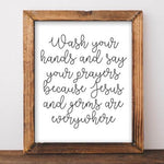 Wash Your Hands - Printable - Printable Digital Download Art by Gracie Lou Printables