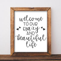 Beautiful Life - Printable - Printable Digital Download Art by Gracie Lou Printables