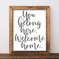 image relating to Welcome Home Printable identify Welcome Household - Printable