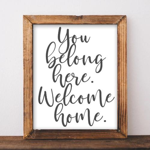 Welcome Home - Printable