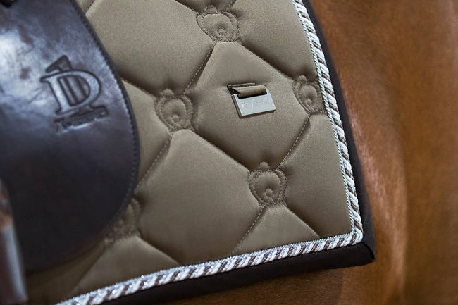 PS of Sweden Monogram Dressage Saddle Pad Ice Coffee