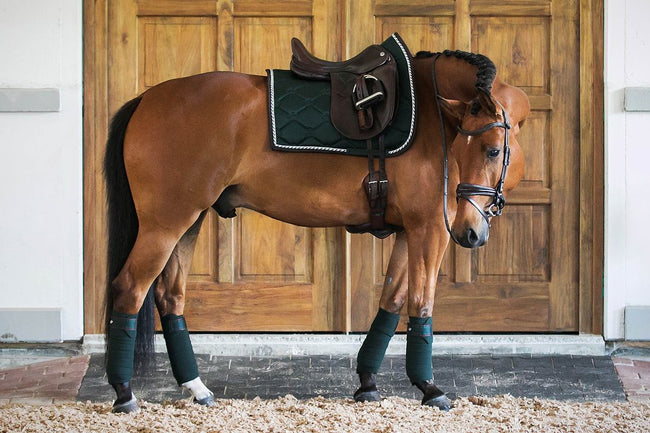 PS of Sweden Dressage Saddle Pad Monogram Emerald PREORDER