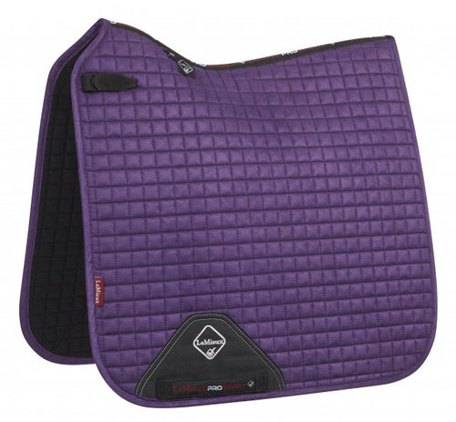 LeMieux Suede Dressage Saddle Pad Blackcurrant