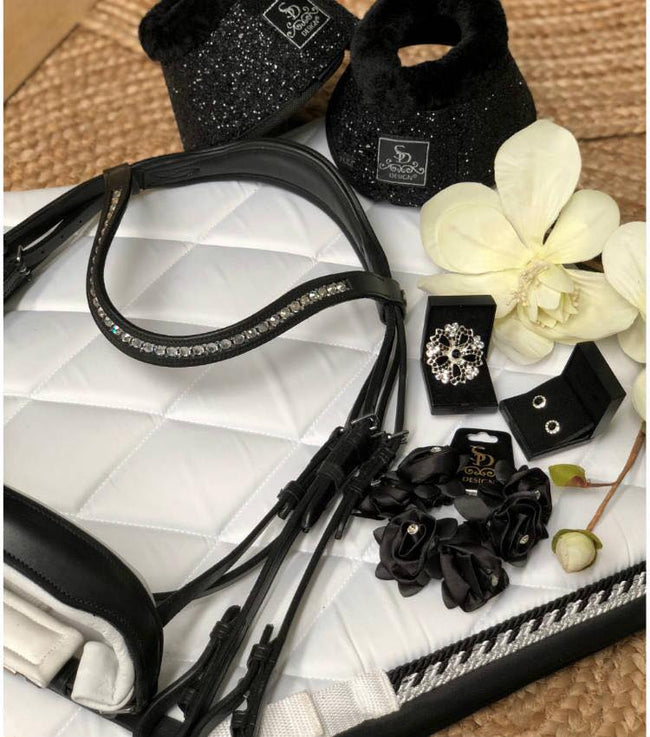 SD Design Bellini Double Bridle Black & White
