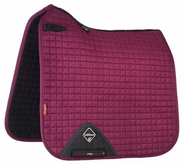 LeMieux Suede Dressage Saddle Pad Plum