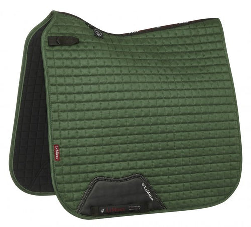 LeMieux Suede Dressage Saddle Pad Hunter Green