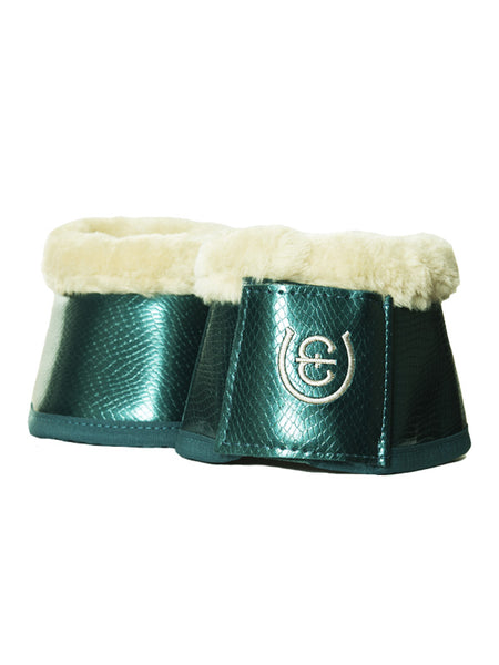 Equestrian Stockholm Fleece Bell Boots Amazonite