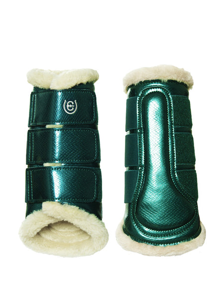 Equestrian Stockholm Fleece Brushing Boots Amazonite